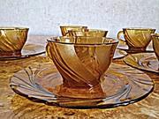 Кофейный сервиз,  Duralex - Vereco,  стекло,  на 6 персон